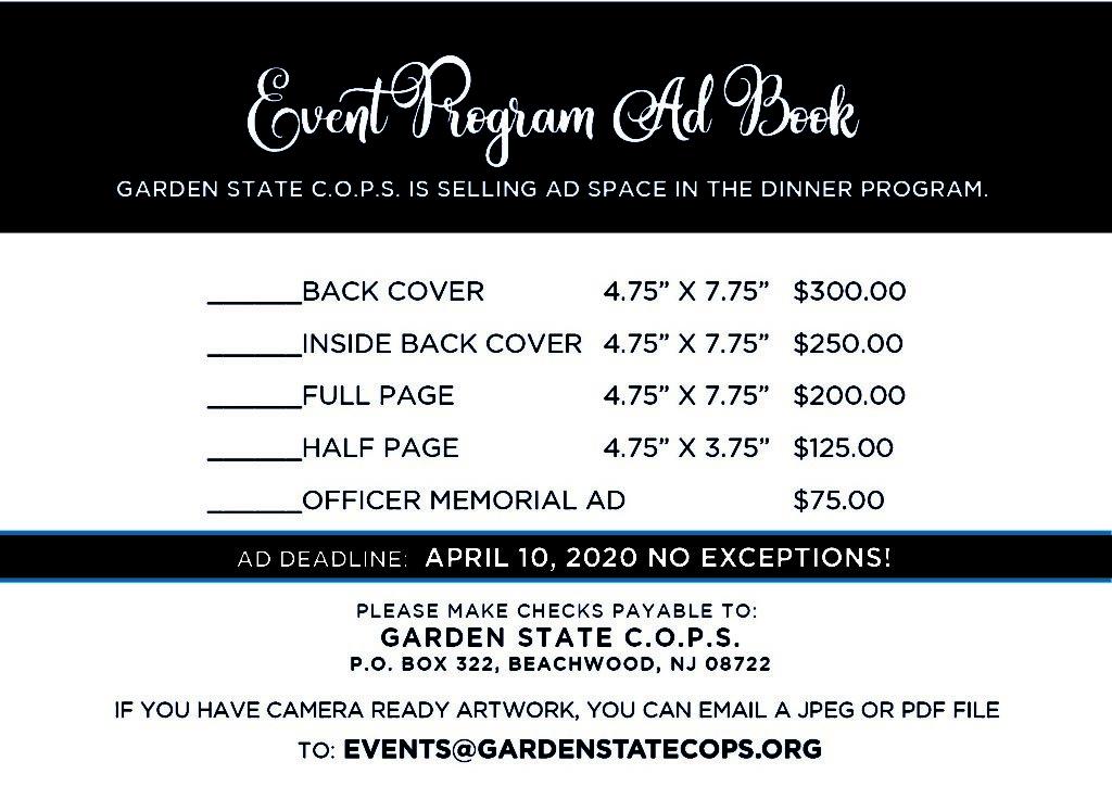2020 event program ad book